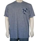 Kingsize Brand 2231 grote maten navy slub T-shirt