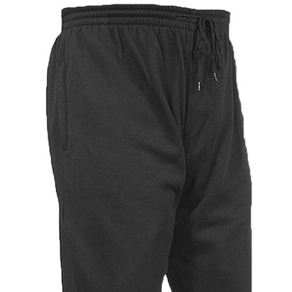 Kingsize Brand J011 Pantalon Jogging de grandes tailles Noir