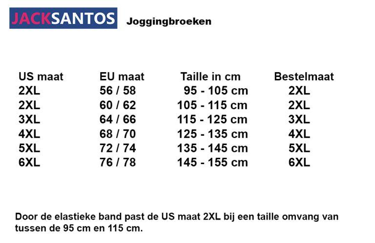 JackSantos J3001 charcoal grote maten joggingsbroek