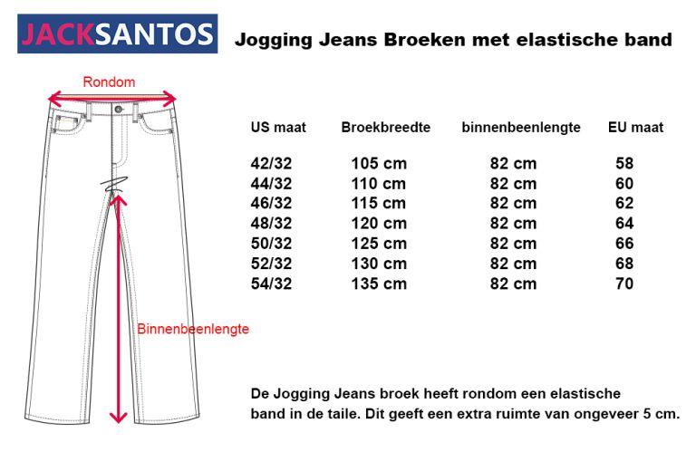 KMS 410 Grote maten Zwarte Jeans