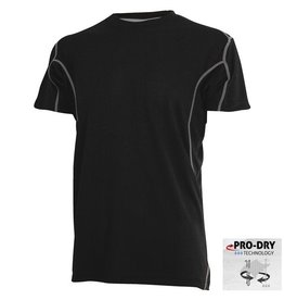 CAMUS 6739 Grote maten Zwart Pro-Dry T-shirt