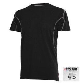 CAMUS 6739 Grote maten Zwarte Pro-Dry T-shirt
