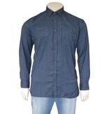 Kingsize Brand 244 Grote maten Blauw Overhemd (lange mouw)