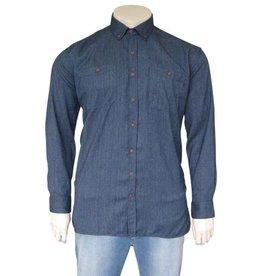 Kingsize Brand 244 grote maten blauwe overhemd
