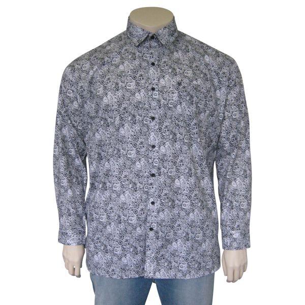 Kingsize Brand 242 Grote maten Printed Overhemd (lange mouw)