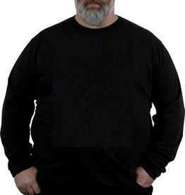 Kingsize Brand TL100 T-shirt de grandes tailles Noir (manche longue)