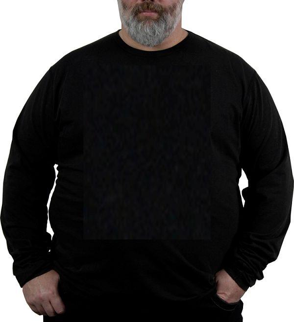 Kingsize Brand TL100 Grote maten Zwart T-shirt (lange mouw)
