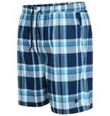 Kingsize Brand SW061 Short de bain de grandes tailles Blue à damiers