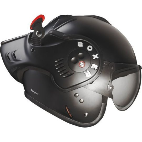 Roof Boxer V8 Full Black Motorhelm