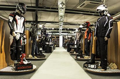 Vêtements moto Centre étage supérieur