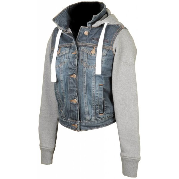 Booster Hoodie Denim Kevlar Ladies Motorvest