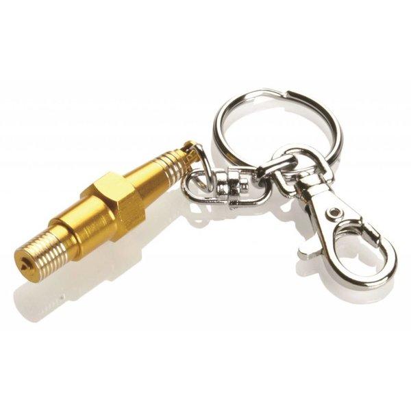 Booster Motor sleutelhanger Spark Plug goud