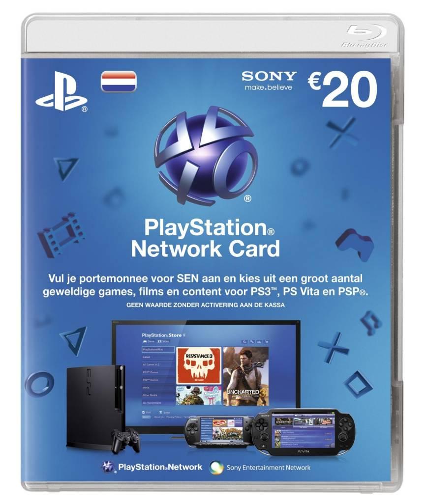 Playstation Network Card 20 Nl Psp Ps3 Psn 4moregames