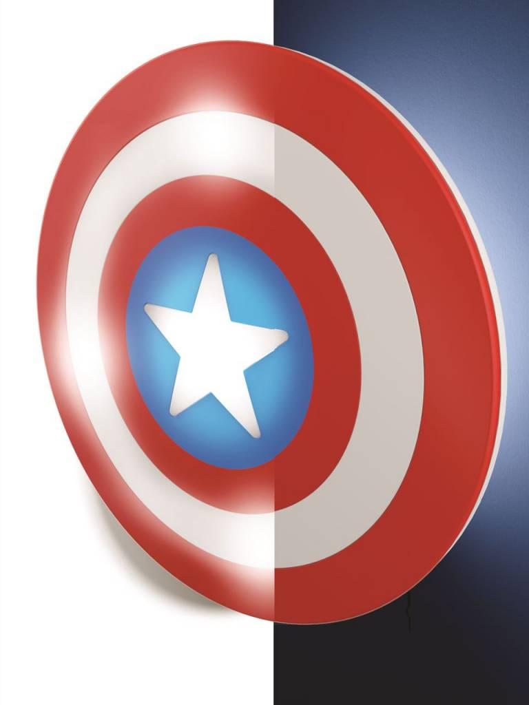captain america shield 3d deco light 4moregames. Black Bedroom Furniture Sets. Home Design Ideas