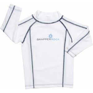 UV Shirt White & Navy (lange mouw) - Snapper Rock