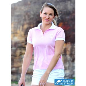 Dames UV-polo Roze - Terry Rich Australia
