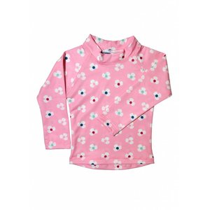 UV Shirt lange mouw 'Pink Flower' - Sandy Feet