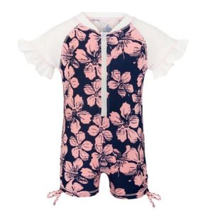UV Badpak Baby 'Hibiscus Navy Pink'- Snapper Rock