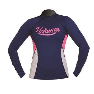 Rashguard Dames Pure Girl Blauw (LS) - Prolimit