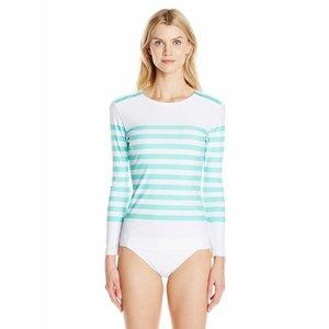 UV-shirt Aqua Stripe met schouder rits - Cabana Life