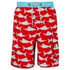 UV werende jongens zwembroek - Rood/blauwe zwaardvis - Snapper Rock