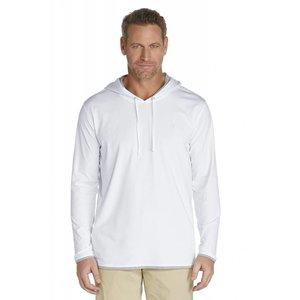 UV hoodie trui heren wit - Coolibar