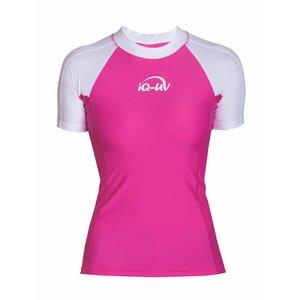 UV Werend Zwemshirt Dames Roze/Wit - IQ-UV