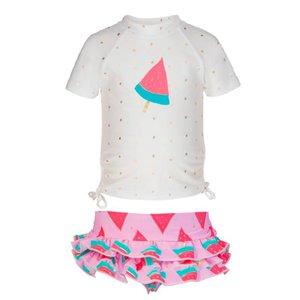 UV-werend shirt met rokje voor meisjes Watermeloen - Snapper Rock