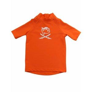UV werend shirt korte mouw kleine kinderen oranje - IQ-UV