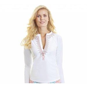 Dames UV Shirt Essentials Wit - Cabana Life