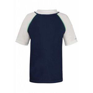 UV beschermend shirt korte mouwen - Donkerblauw/wit/ mint - Snapper Rock