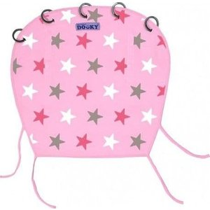 Dooky kinderwagen scherm Pink Stars