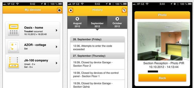 iPhone of Android App voor uw Jablotron alarmsysteem