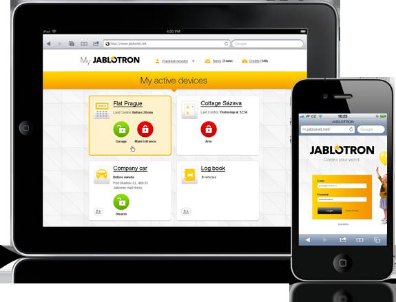 Jablotron alarm APP