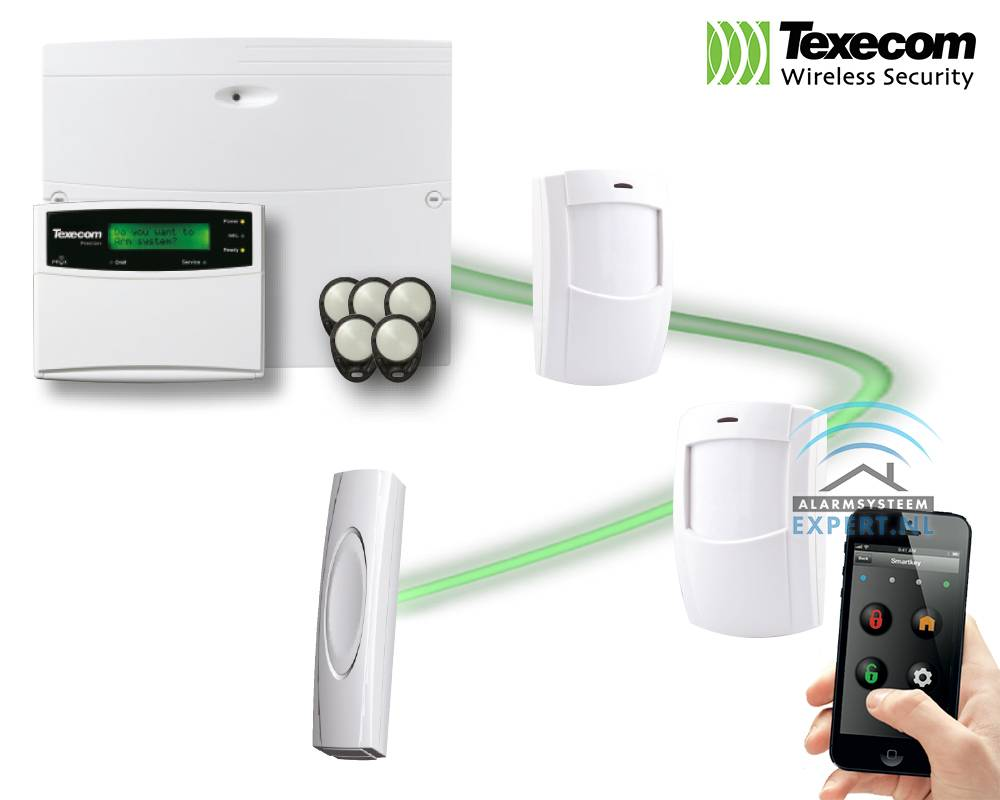 Texecom alarmsysteem kits