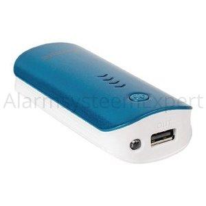 König Portable Power Bank 4400 mAh USB Blauw