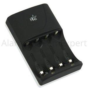 HQ AA/AAA NiMH Batterij Lader 4x AA/HR6 2300 mAh