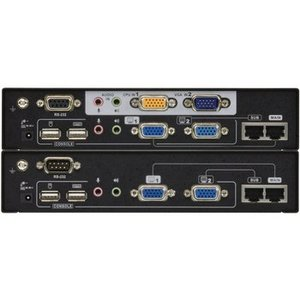Aten KVM Extender Dual View, USB, Audio, RS232 300 m