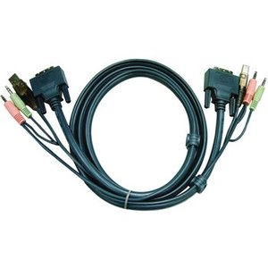Aten KVM combination cable DVI-D/USB/Audio
