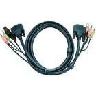 Aten KVM combination cable DVI-D/USB/Audio 1.80 m