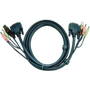 Aten KVM combination cable DVI-D/USB/Audio