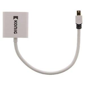 König Mini DisplayPort Kabel Mini-DisplayPort Male - VGA Female 15-Pins 0.20 m Wit