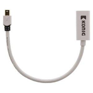 König Mini DisplayPort Kabel Mini-DisplayPort Male - HDMI-Uitgang 0.20 m Wit