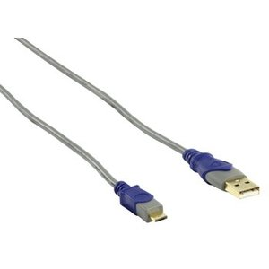 HQ USB 2.0 Kabel A Male - Micro-A Male 1.80 m Grijs