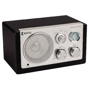 König Tafelradio Retro FM / AM 3 W Zwart