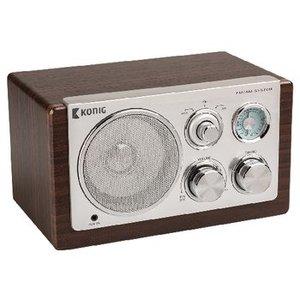 König Tafelradio Retro FM / AM 3 W Bruin