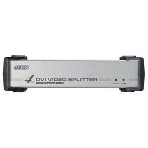 Aten DVI Splitter DVI-I Ingang - 4x DVI-I-Uitgang Zwart