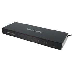 Aten HDMI Matrix 4x HDMI-Ingang + RS232 Female - 4x HDMI-Uitgang Zwart