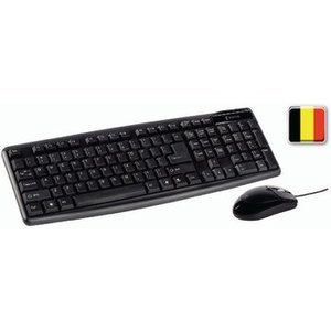 König Bedrade Muis en Keyboard Standaard USB Belgian Zwart