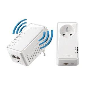 Sitecom 2 Poorten Powerline Adapter 500 Mbps Pass-Through Stopcontact WLAN-Starterskit N300